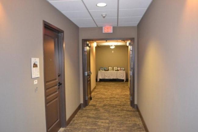 Wide well lite hallways.