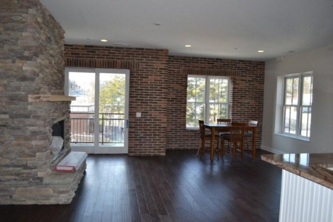Spacious great room with gas fireplace