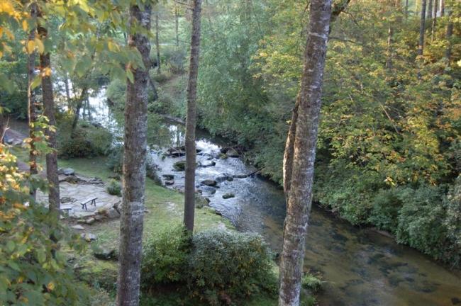 Horsepasture River runs through the area